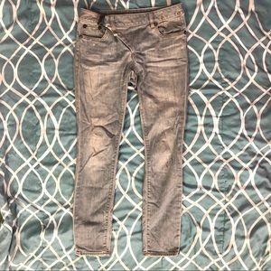 R13 blue skinny jeans